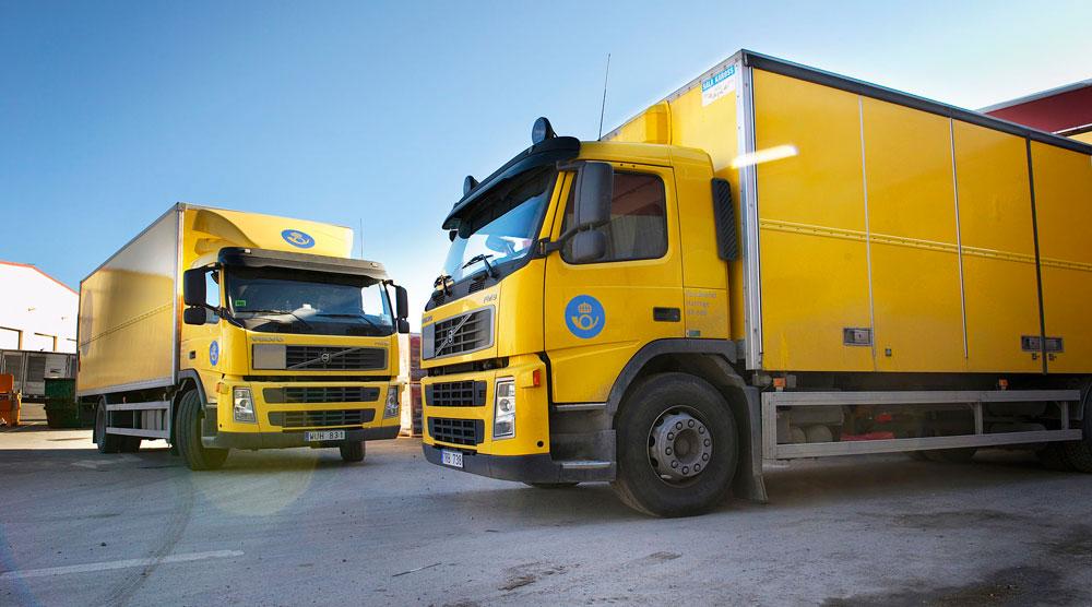 Lastbilar från Postens kundservice