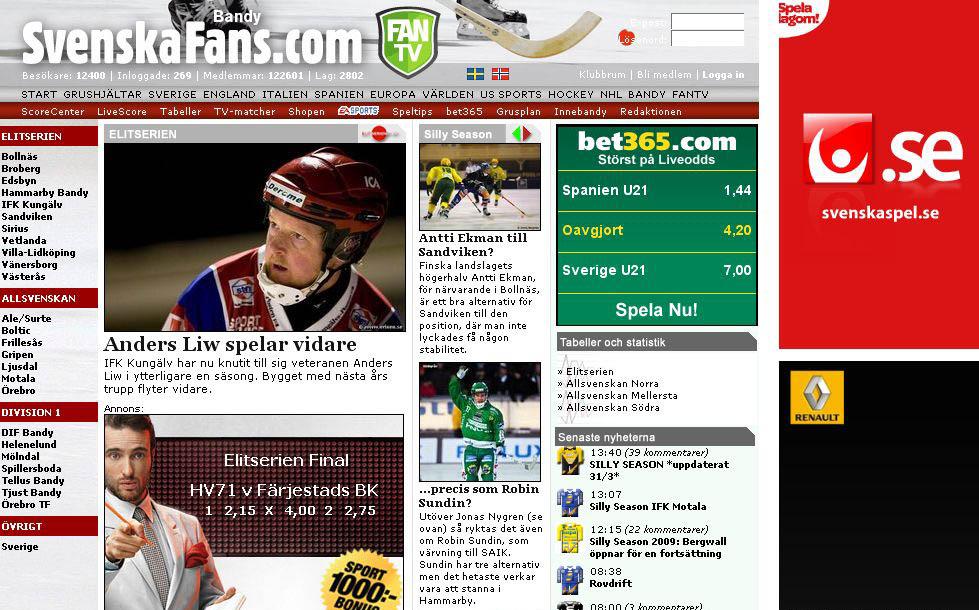 SvenskaFans.com/Bandy 2009