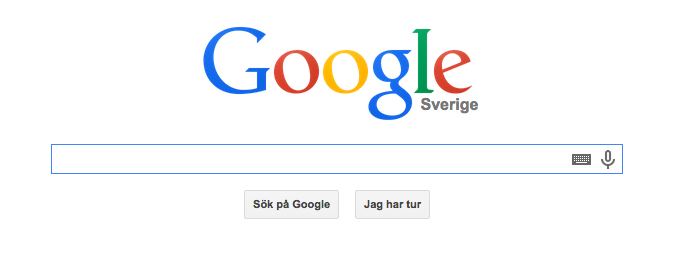 Googles sökruta